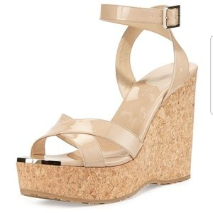 Jimmy Choo Papyrus Wedge Nude color